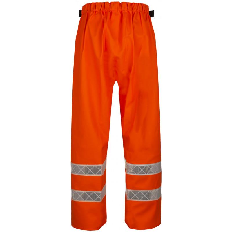 Pantalon MACADAM orange HV EN iso 20471 dos