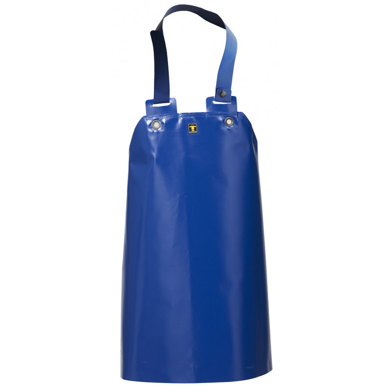 Crab work apron made of very strong fabric on bib and braces