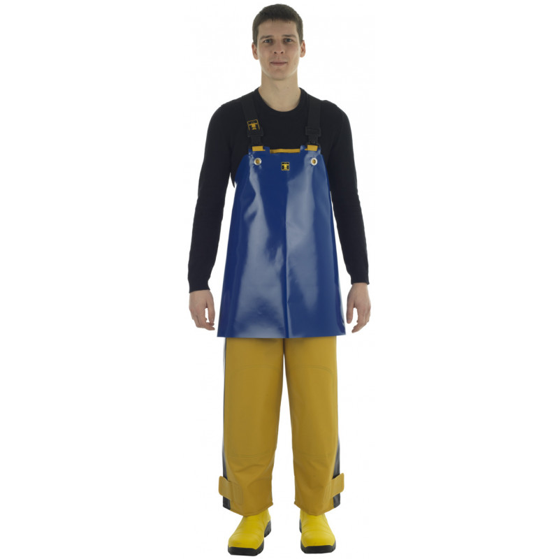 Crab work apron made of very strong oilskin fabric - back