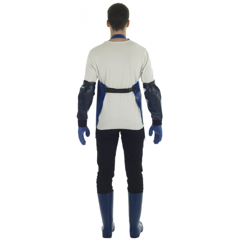 Crab work apron made of very strong oilskin fabric - face