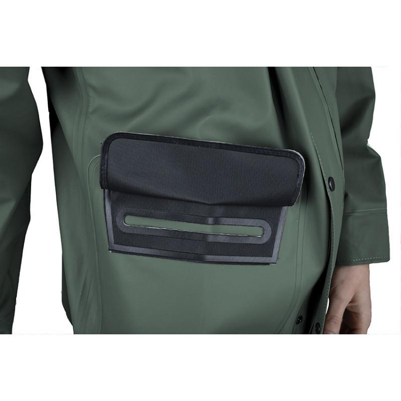 détail poche veste VAL vert