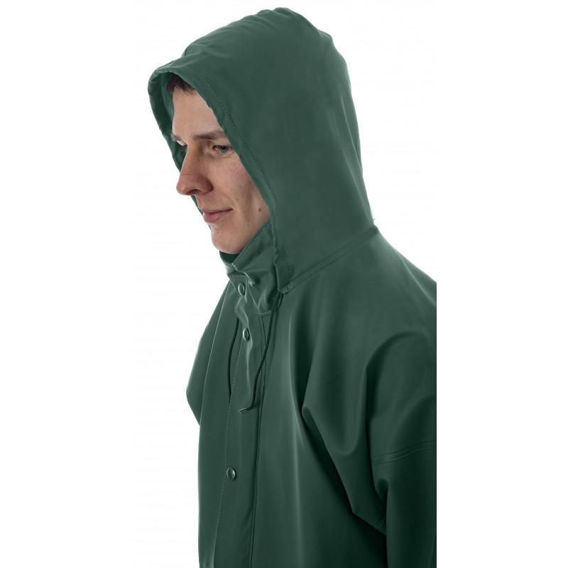 détail capuche veste VAL vert