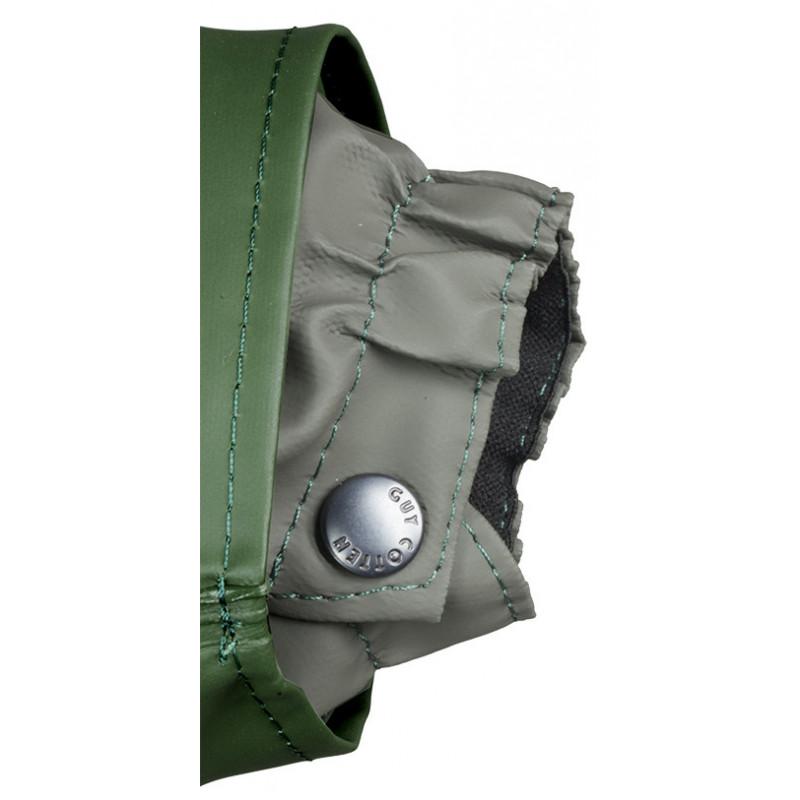 détail poignet veste VAL vert
