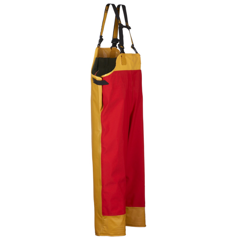 Guy Cotten's Drembib bib and braces breathable and waterproof yellow Red - Back