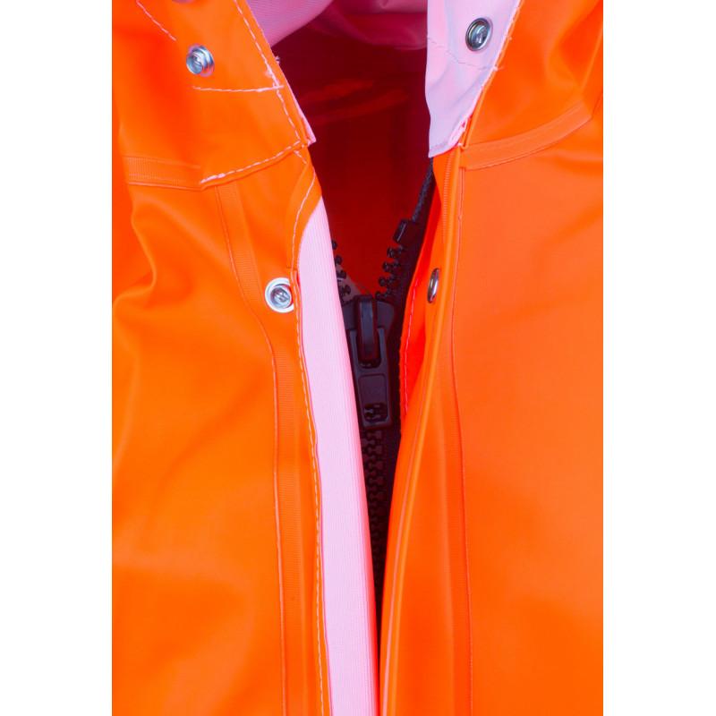Veste ciré GAMVIK  orange Fluo - fermeture zippée