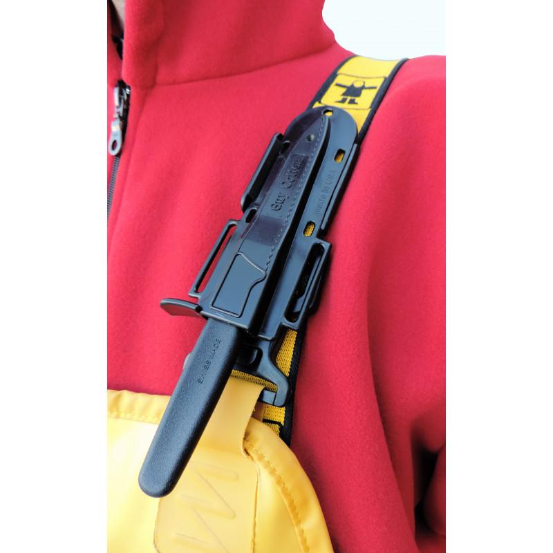 Porte couteau monté sur bretelle cotte (possibilité assemblage 2)