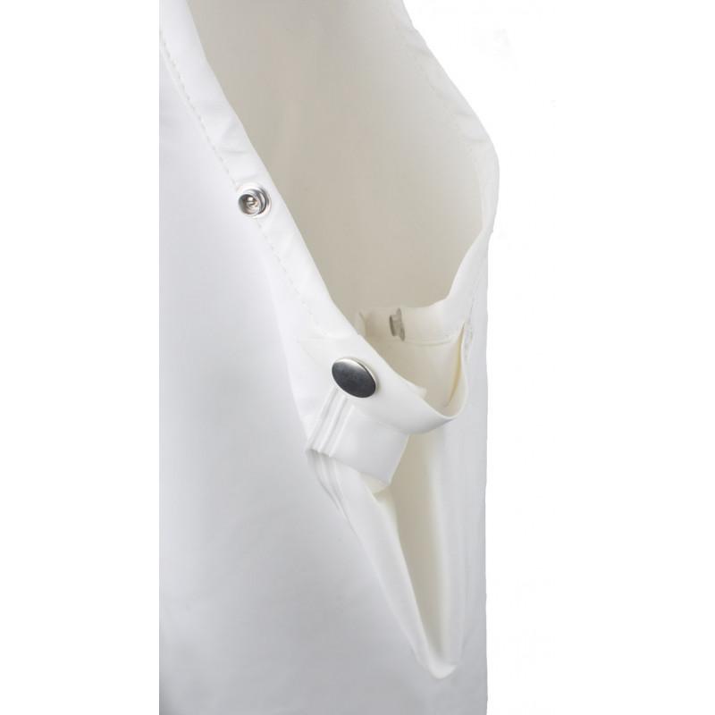 Cotte à bretelles ciré HITRA Glentex Blanc -  fermeture