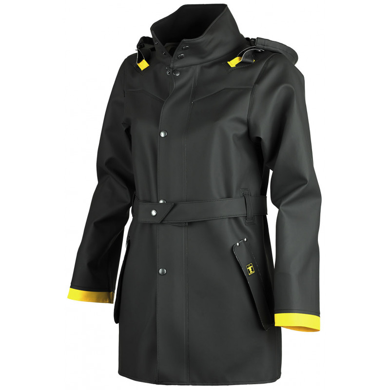 Authentic oilskin jacket woman Hecate Guy cotten - yellow