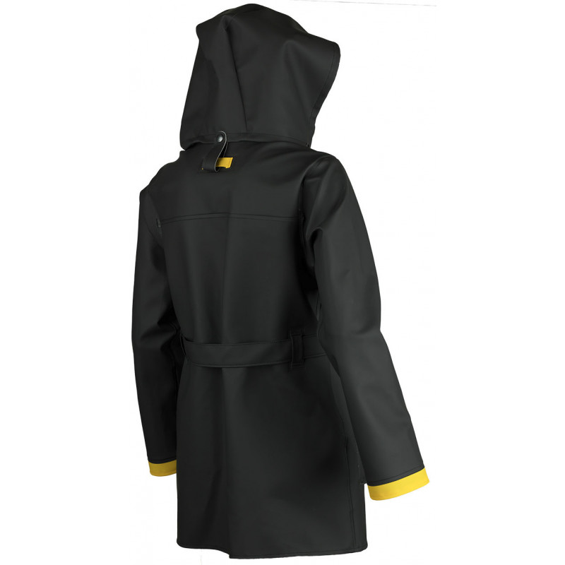 Authentic oilskin jacket woman Hecate Guy Cotten - Black and Yellow