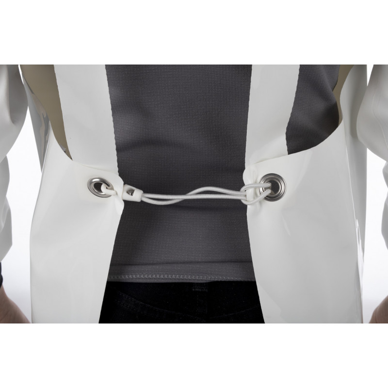 Waterproof PU oilskin work Confort apron for the food industry - Detail