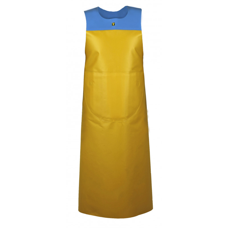Yellow and blue Isofonf Apron - Isolatech
