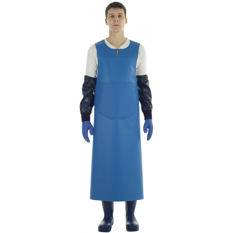 Blue Isofonf Apron - Isolatech - weared