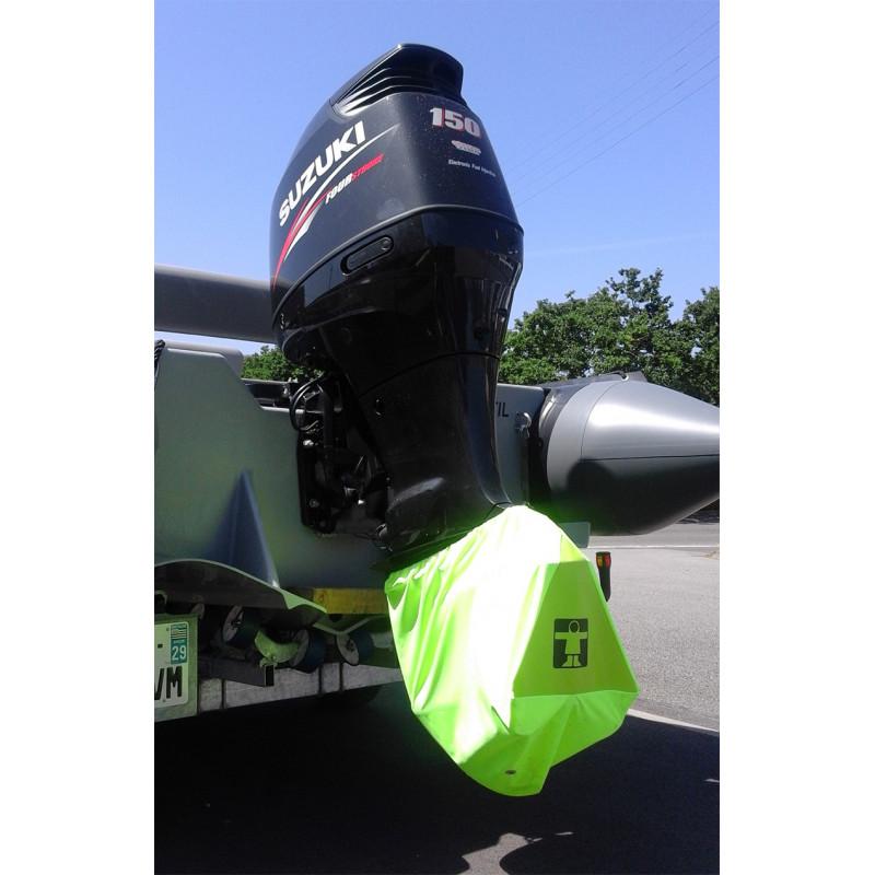 Housse protection embase moteur jaune fluo