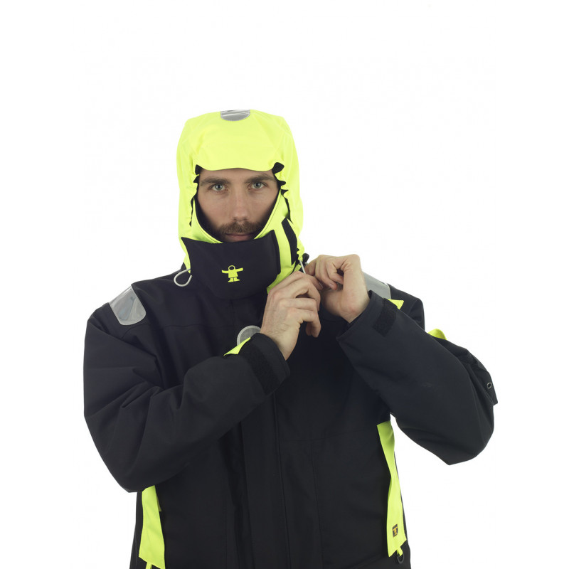 Breathable and resistant KARA offshore jacket - Hood