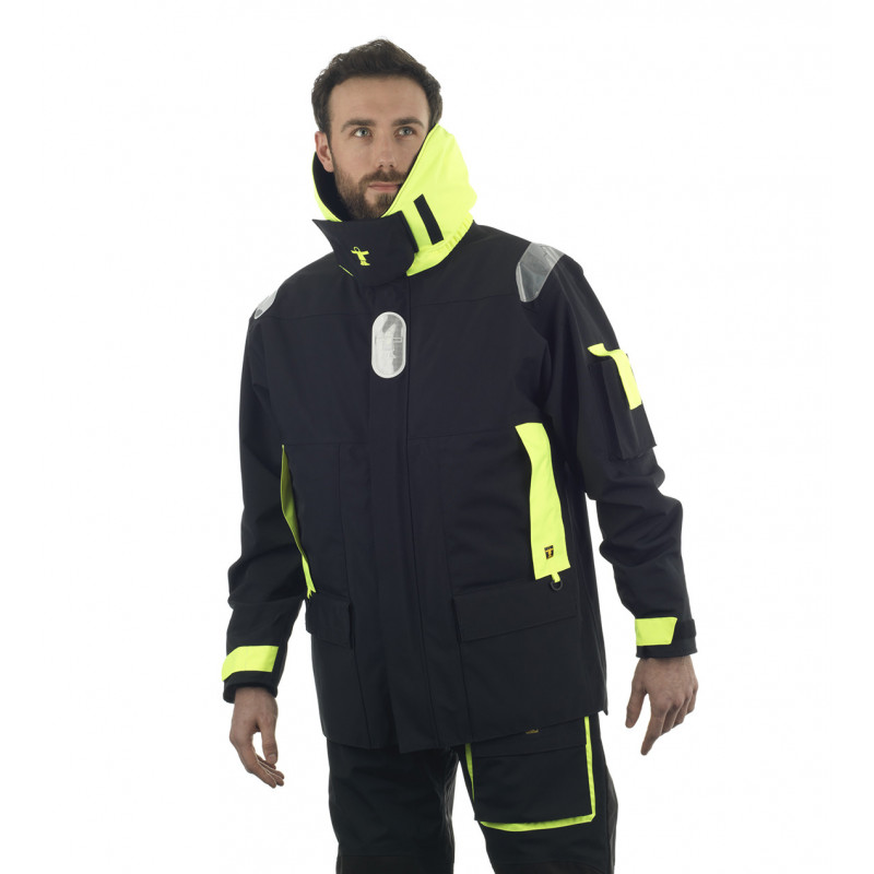Breathable and resistant KARA offshore jacket - Face