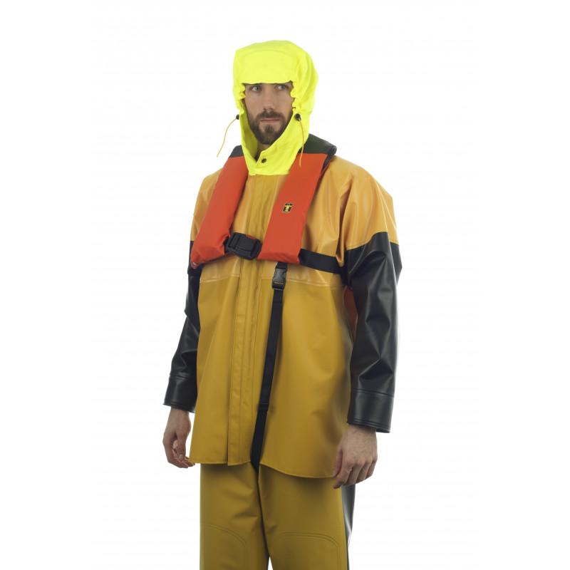 Brizo 150N self-inflating lifejacket - worn over Isomax jacket