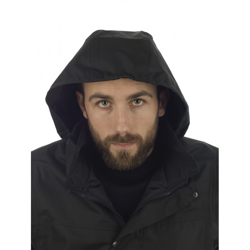 Veste Etel noir capuche