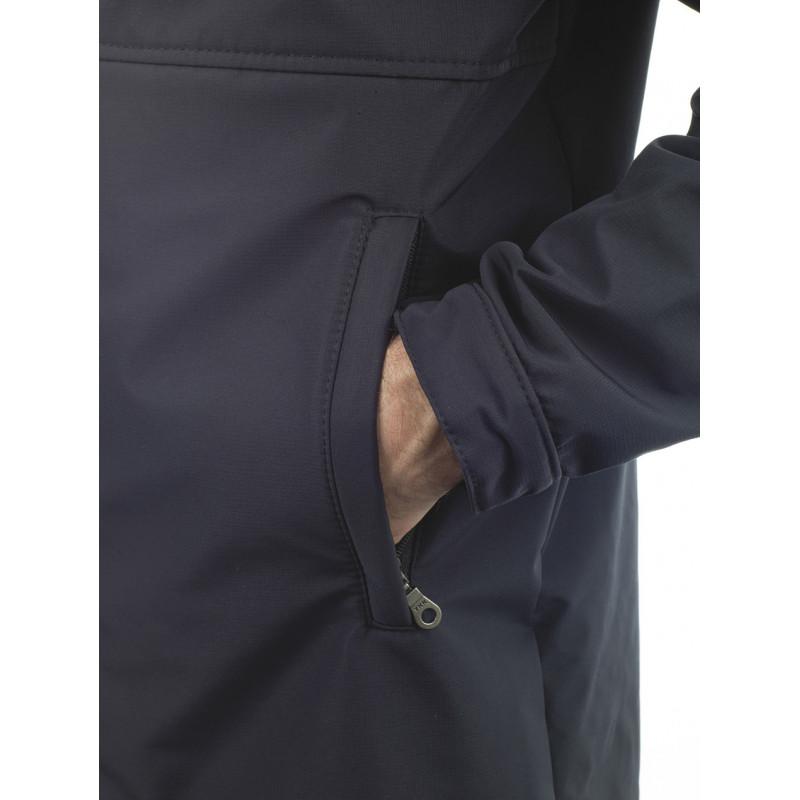 Manteau long MERGA NOIR detail poche