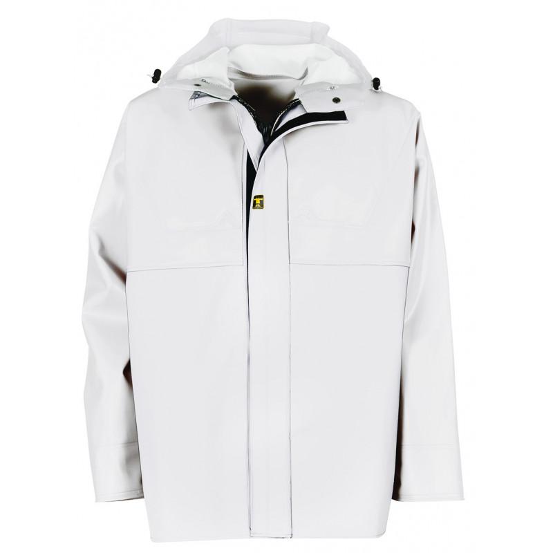 White Waterproof Oilskin - jacket AGRO