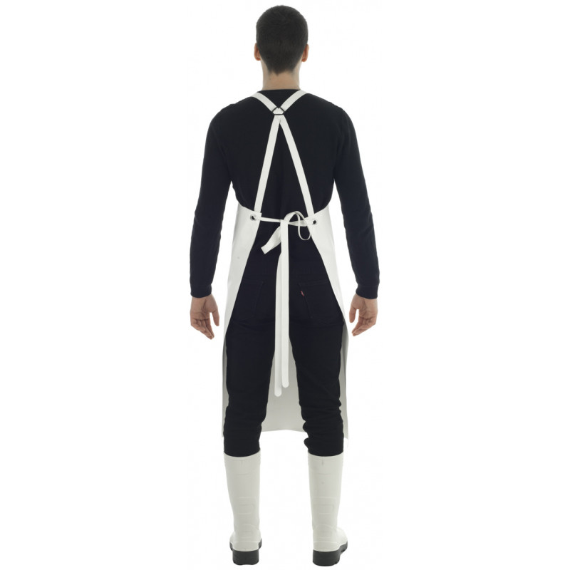 Apron Etal with Isolatech ventral insulation reinforcement - White Black