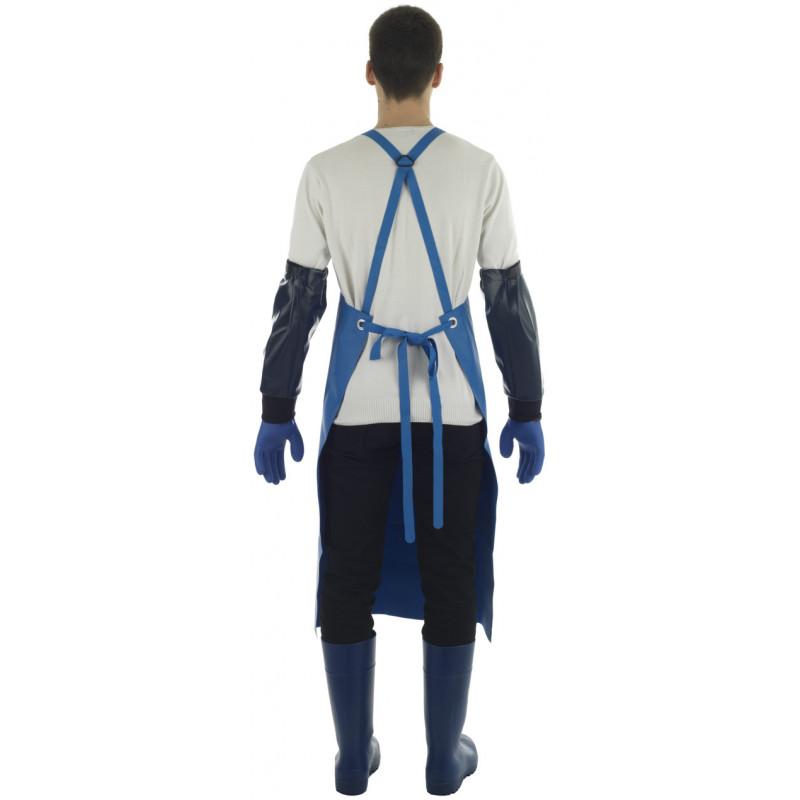Tablier Etal Bleu à renfort Isolatech isolation ventrale - Dos