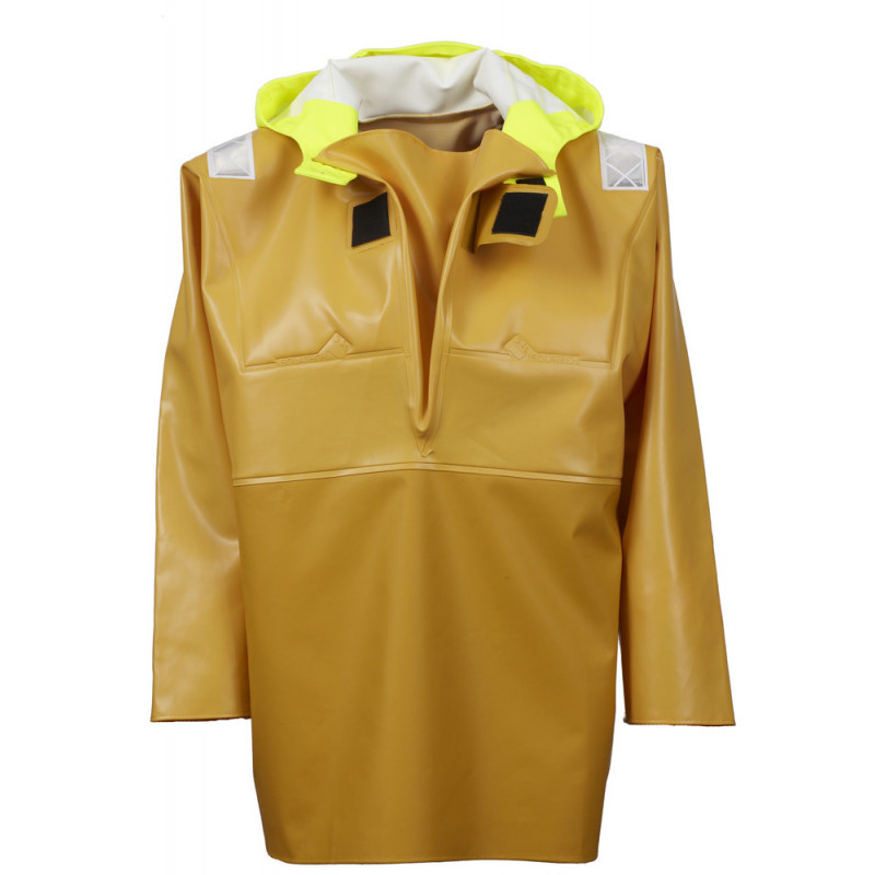 Variable volume Isotop oilskin jacket for safety at work - open