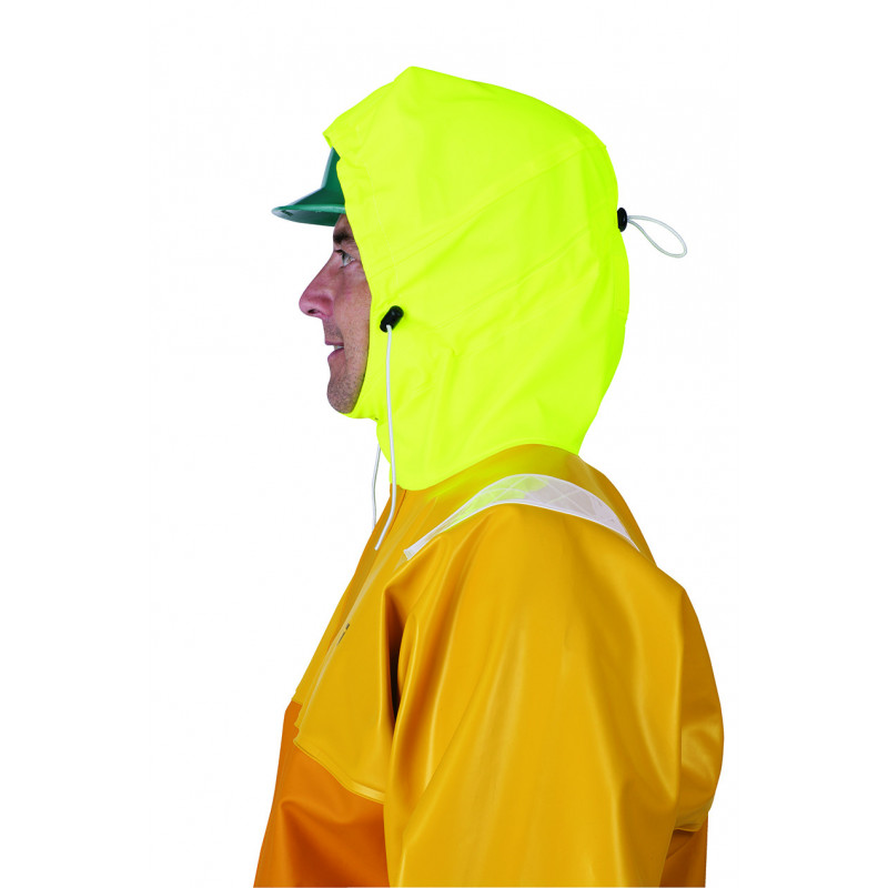 Variable volume Isotop oilskin jacket for safety at work - helmet and Magic Hood