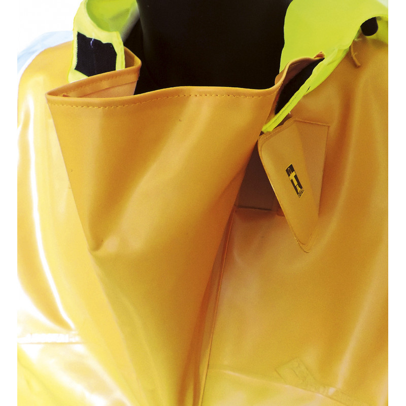 Variable volume Isotop oilskin jacket for safety at work - Wide collar gusset