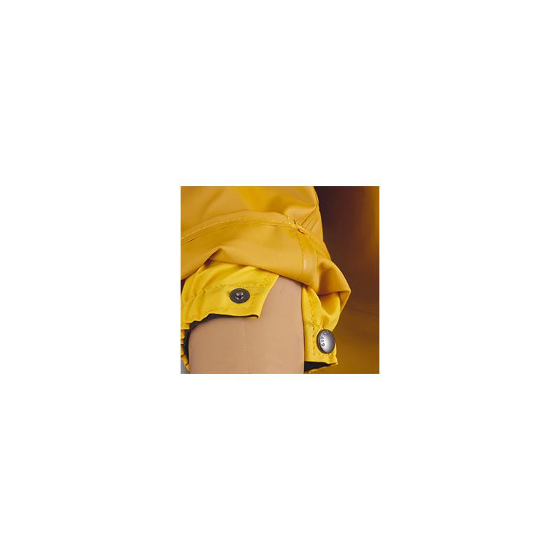 Veste ciré ISOCLAS étanche Tissu Classic jaune - Détail poignet élastiqué