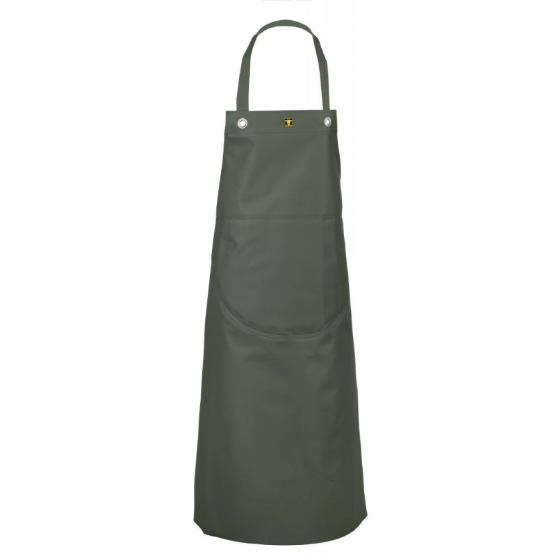 Work apron made of waterproof oilskin, insulated with Isolatech Isofranc