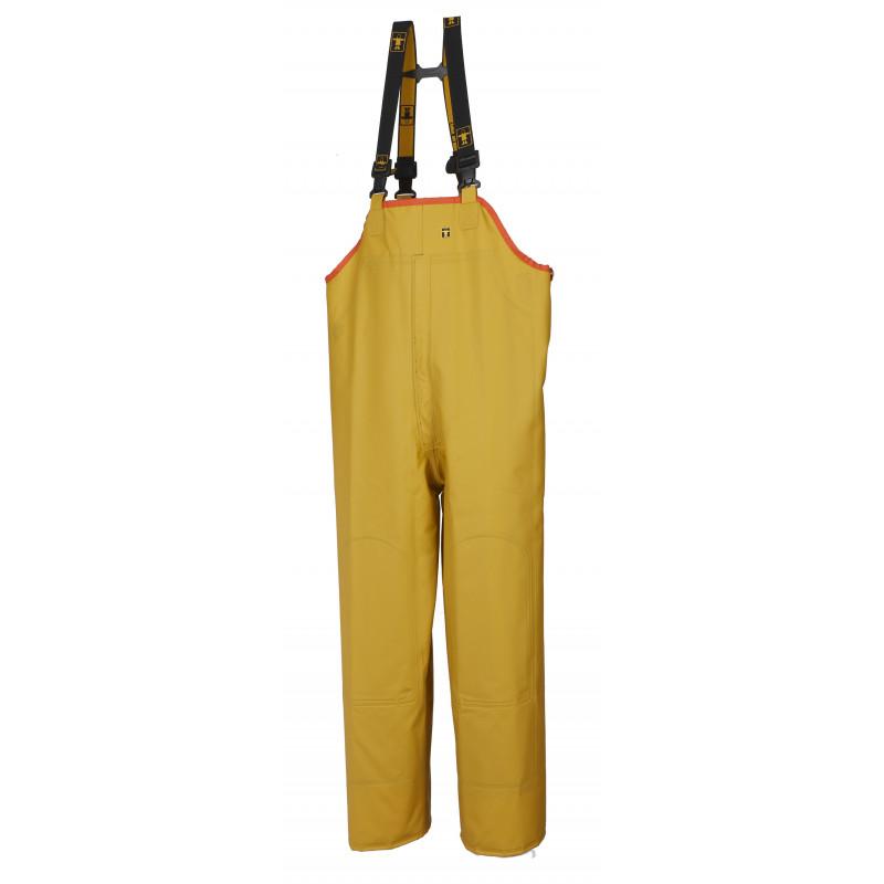 Waterproof North Sea bib and braces - Yellow