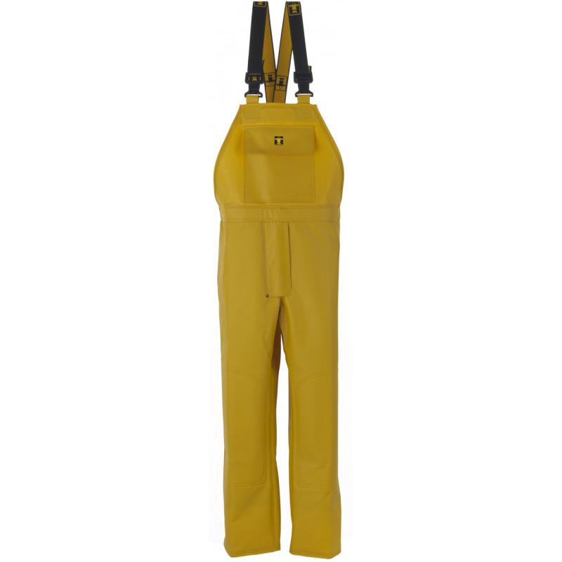 Cotte à bretelles étanche jaune