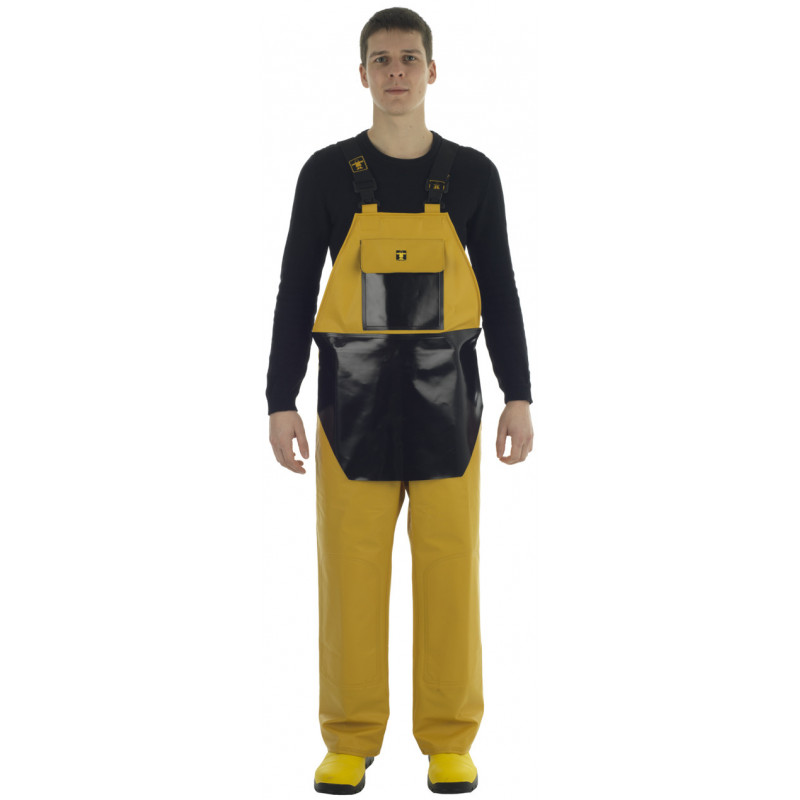 Waterproof bib and braces with apron - Face