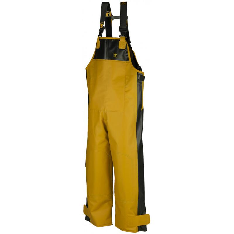 Waterproof oilskin Bib and Braces X-Trapper Yellow Black