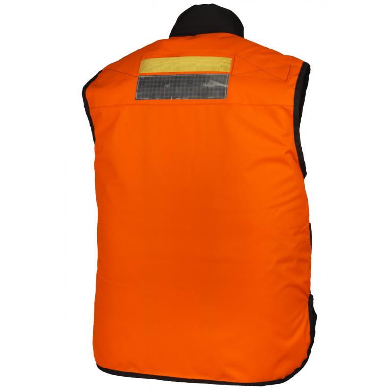 Gilet Flottant NEPTUNE  dos (EN iso 12402-5) marine orange
