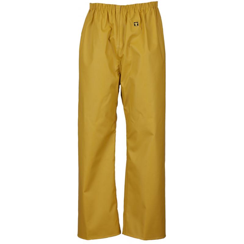 Waterproof trousers pvc nylpeche fabric pouldo guy cotten - Yellow