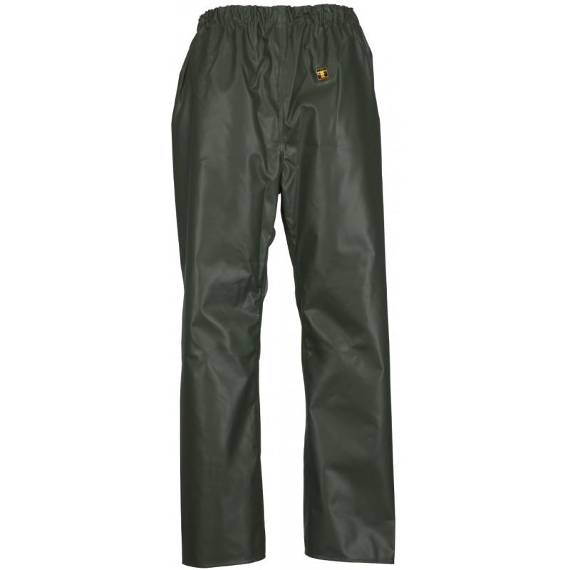 Waterproof trousers pvc nylpeche fabric pouldo guy cotten - green