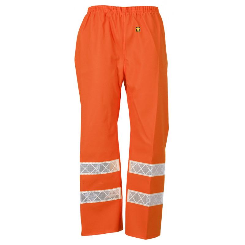 Pantalon ciré Poulflash  HV étanche ORANGE FLUO