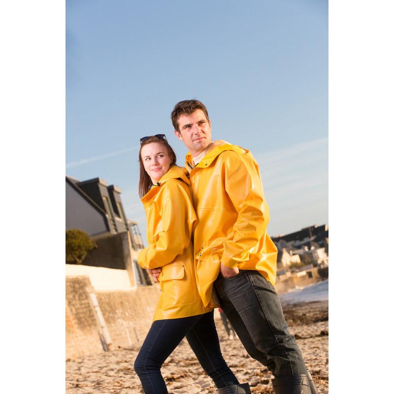 Waterproof oilskin jacket Rosbras yellow- men -female