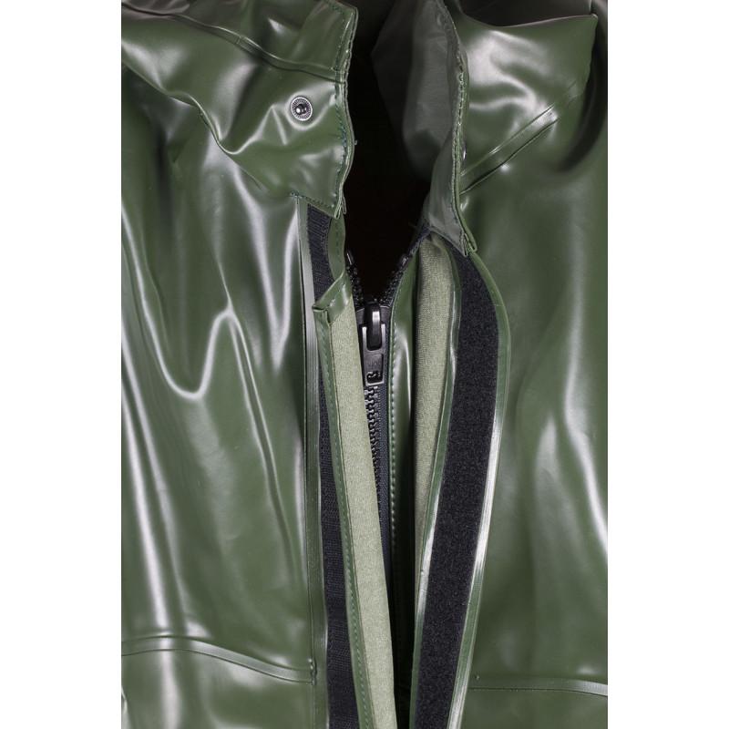 Waterproof oilskin jacket Rosbras - Zip fastening