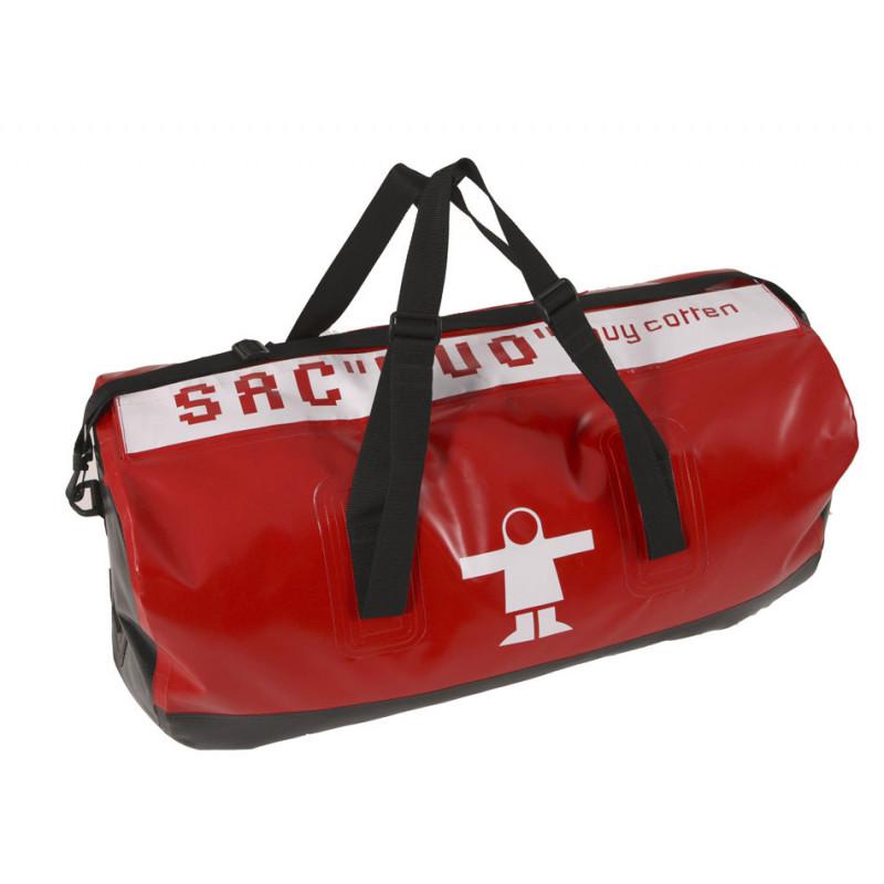 Semi-waterproof Duo compartment oilskin bag - Red