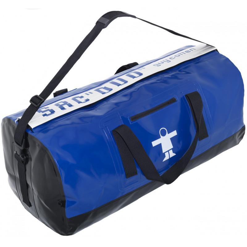 Semi-waterproof Duo compartment oilskin bag - Blue