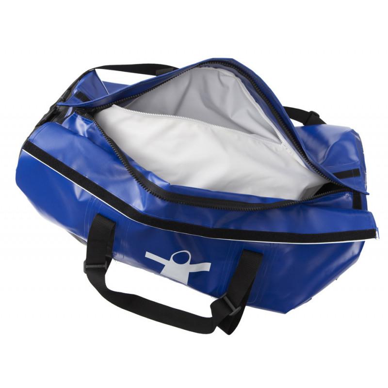 Semi-waterproof Duo compartment oilskin bag  - Inside compartment