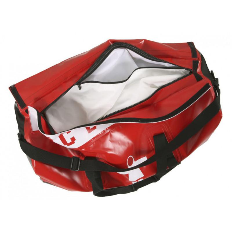 Semi-waterproof Duo compartment oilskin bag - Black