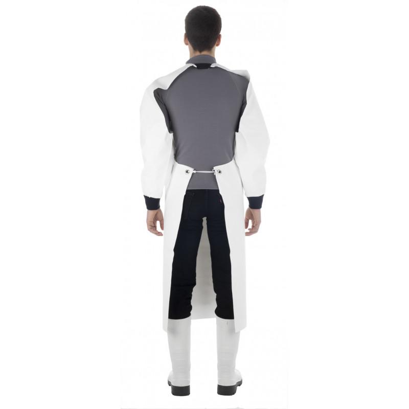 waterproof oilskin work apron white Mantal Guy Cotten - Back