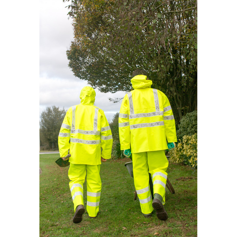 Back Isolatech jacket and macadam Trousers Hi Vis