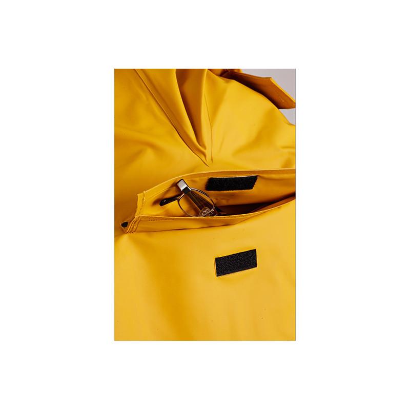 Waterproof front pocket of the Drenec smock