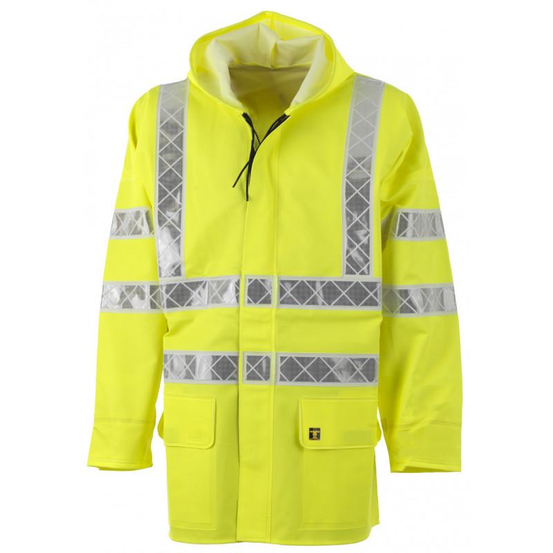 Veste ciré PARAFLASH jaune HV EN ISO 20471