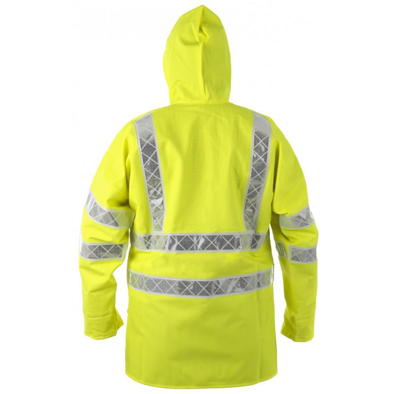 Veste ciré PARAFLASH jaune HV EN ISO 20471-Dos