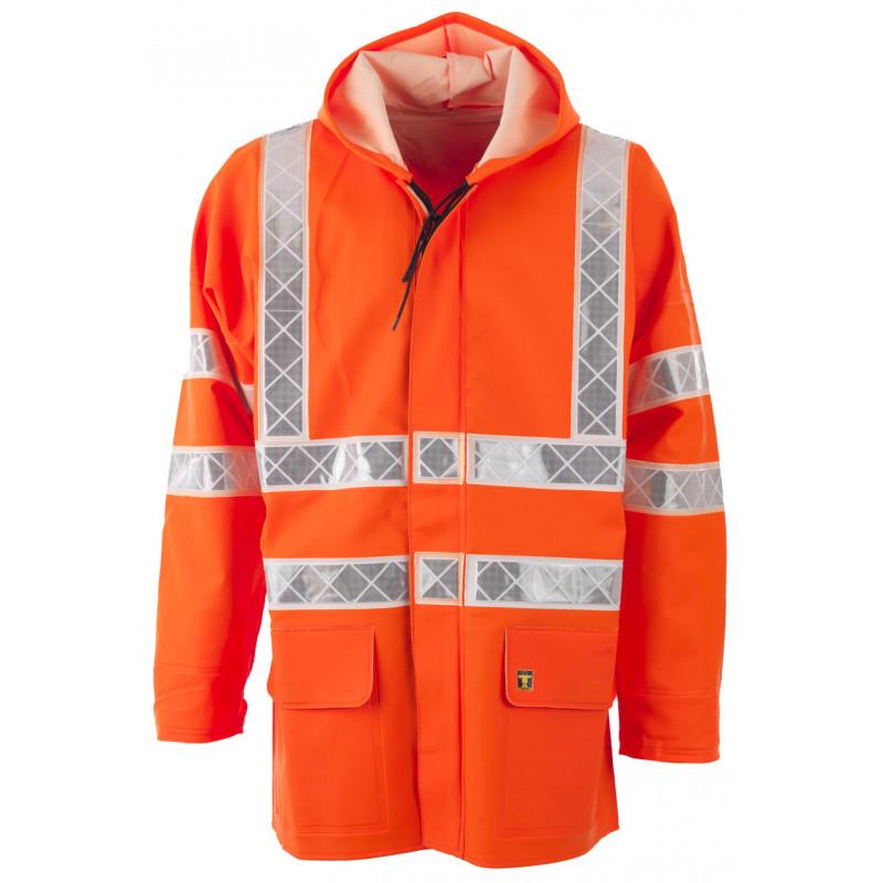Veste ciré PARAFLASH orange HV EN ISO 20471